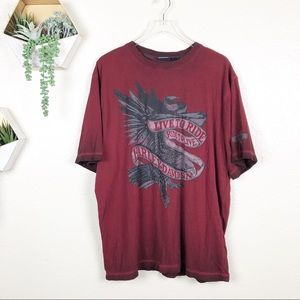 Harley Davidson live to ride ride to live red T
